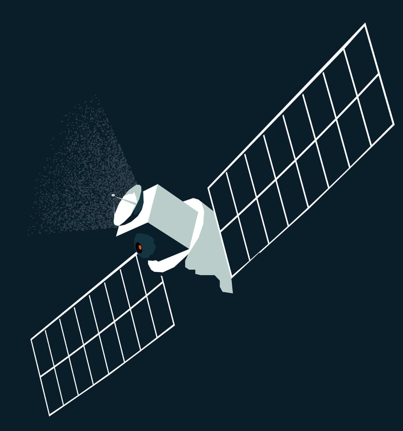 A bespoke satellite illustration from the Sønr library